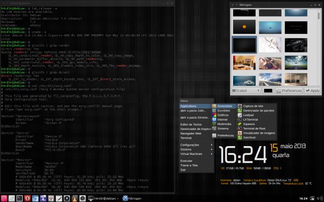 Wheezy + OpenBox e o kernel padrão: 3.2.0-4
