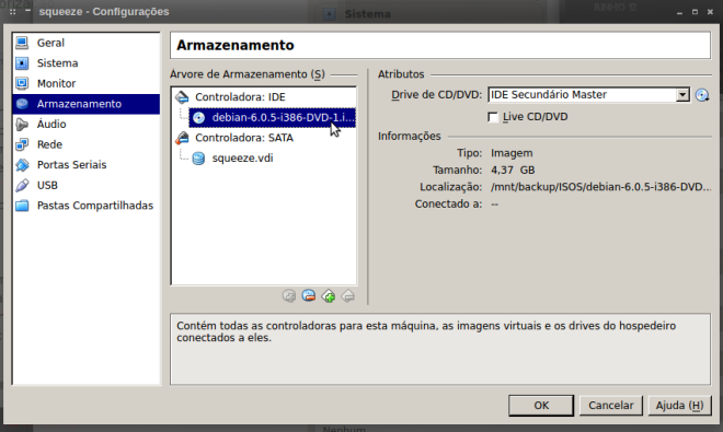 tela do VirtualBox...