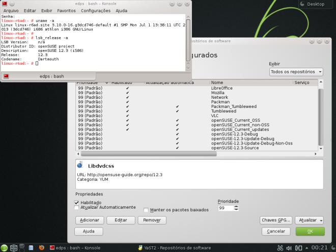 openSUSE atualizado!