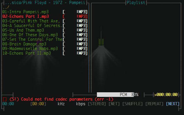 erro na reprodução de arquivo .mp3.