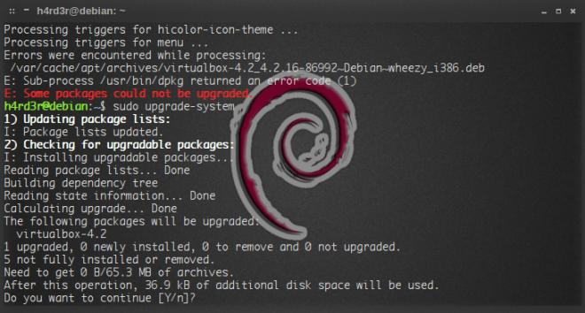 após fechar o VBirtualBox, reinício da atualização...