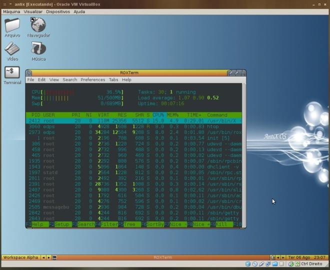 desktop carregado...