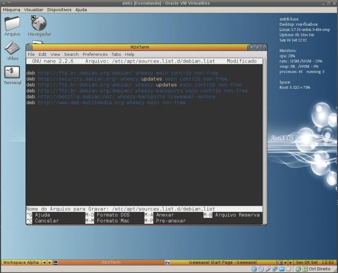 o sources.list completo do Debian Backports que adicionei ao antiX.