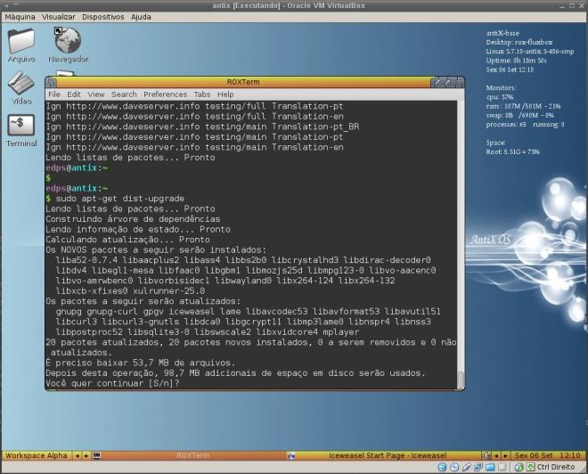 simulação da atualização completa do sistema...
