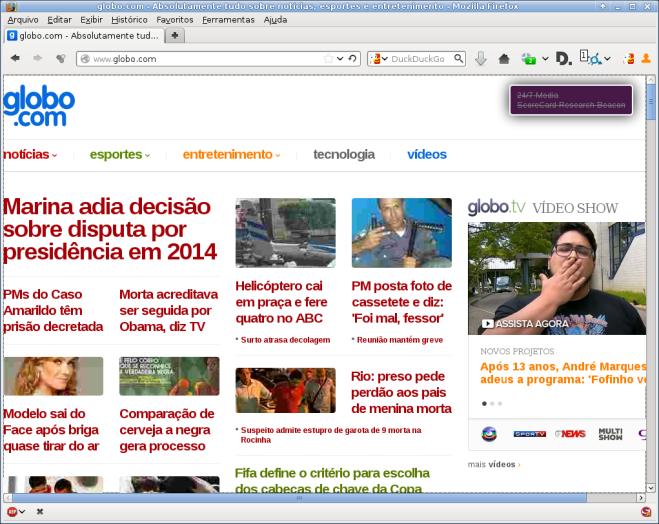 site globo.com.