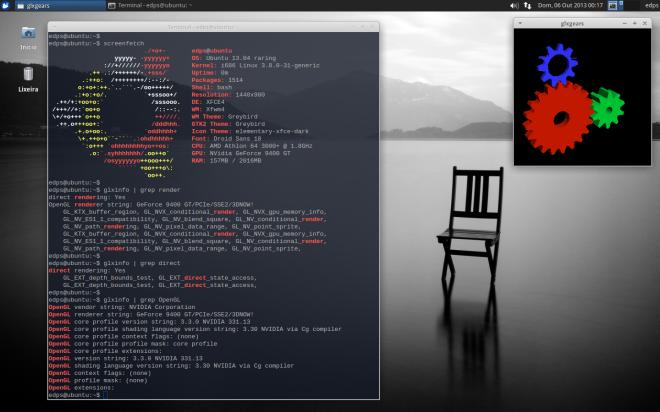 Desktop pronto, com tudo em ordem e sem comer RAM! rs