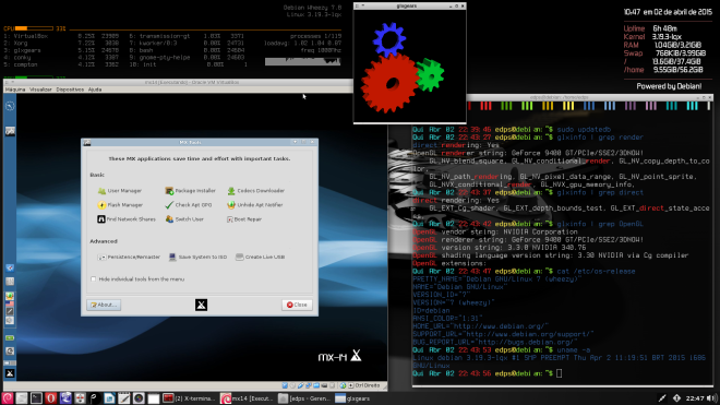 Debian Wheezy 7.8 + Kernel 3.19.3 + VirtualBox & driver Nvidia 340.76