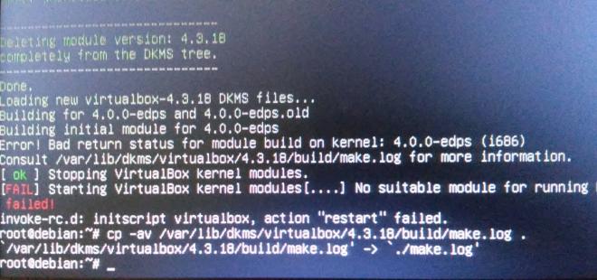 erro na criação dos módulos do VirtualBox via DKMS