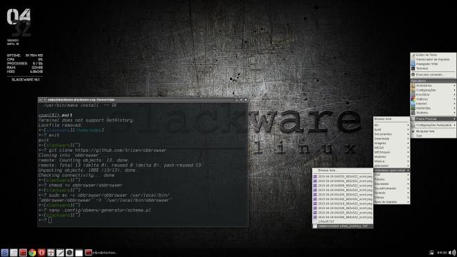 OpenBox no Slackware com obmenu-generator & obbrowser