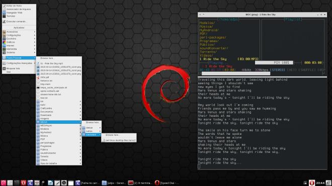 OpenBox + obmenu-generator + obbowser + clyrics!