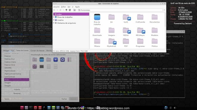 Moka Themes no Debian.