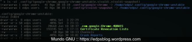 demonstração dos links criados