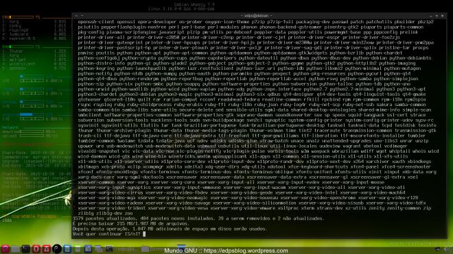 1579 pacotes atualizados, 484 novos pacotes, 39 removidos e 2 não atualizados...