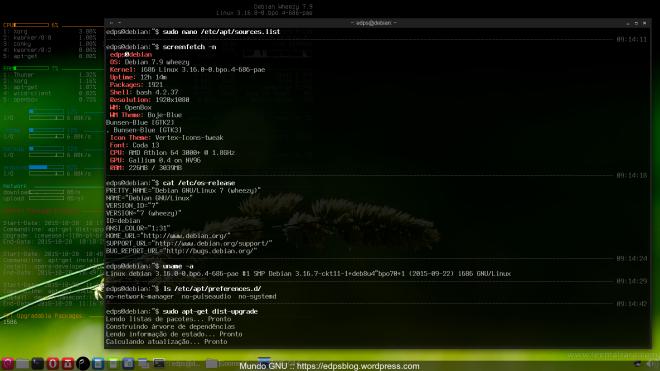 a cobaia... o excelente Debian Wheezy 7.9.