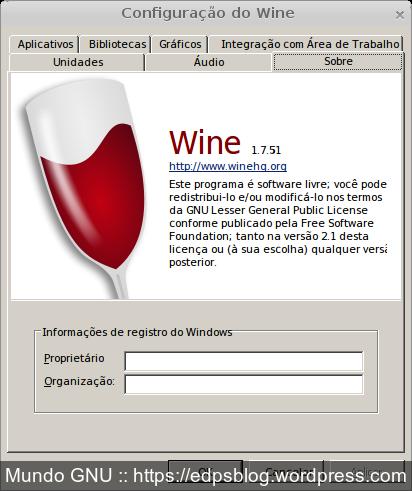 Wine 1.7.51 no Devuan  (Debian Jessie curado para os íntimos) rsrs