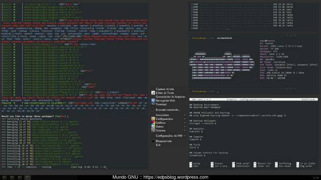 e após alguns ajustes, copia de configs, fontes e temas: ei-lo: Funtoo Current!