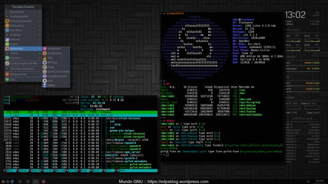 Slackware Current  + Kernel 4.3.0 + recentes updates (eudev inclusive).