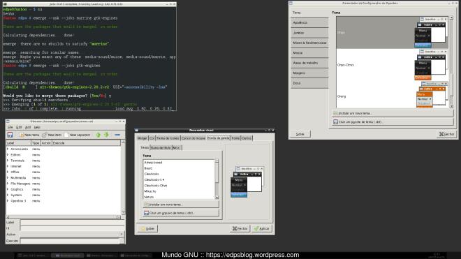 o pelado OpenBox, sem nada! comoço pelos temas GTK...