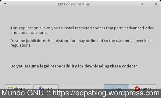 Instalador de Codecs...