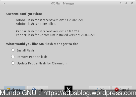 Instalador/Atualizador do plugin Flash
