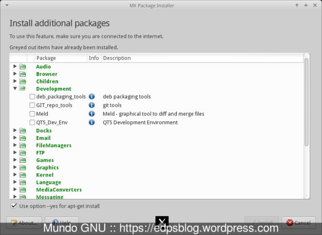 MX Package Installer para quem não curte o modo CLI...
