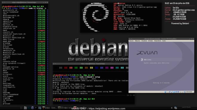 All works! kernel gentoo-sources compilado e empacotado no Debian Jessie...