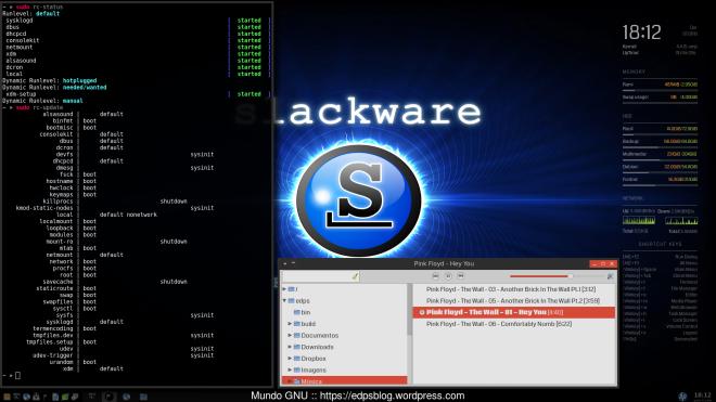 Slackware Current + OpenRC e um novo gás tanto no boot como no consumo de RAM!