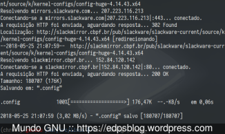 download da config do Slackware Current...