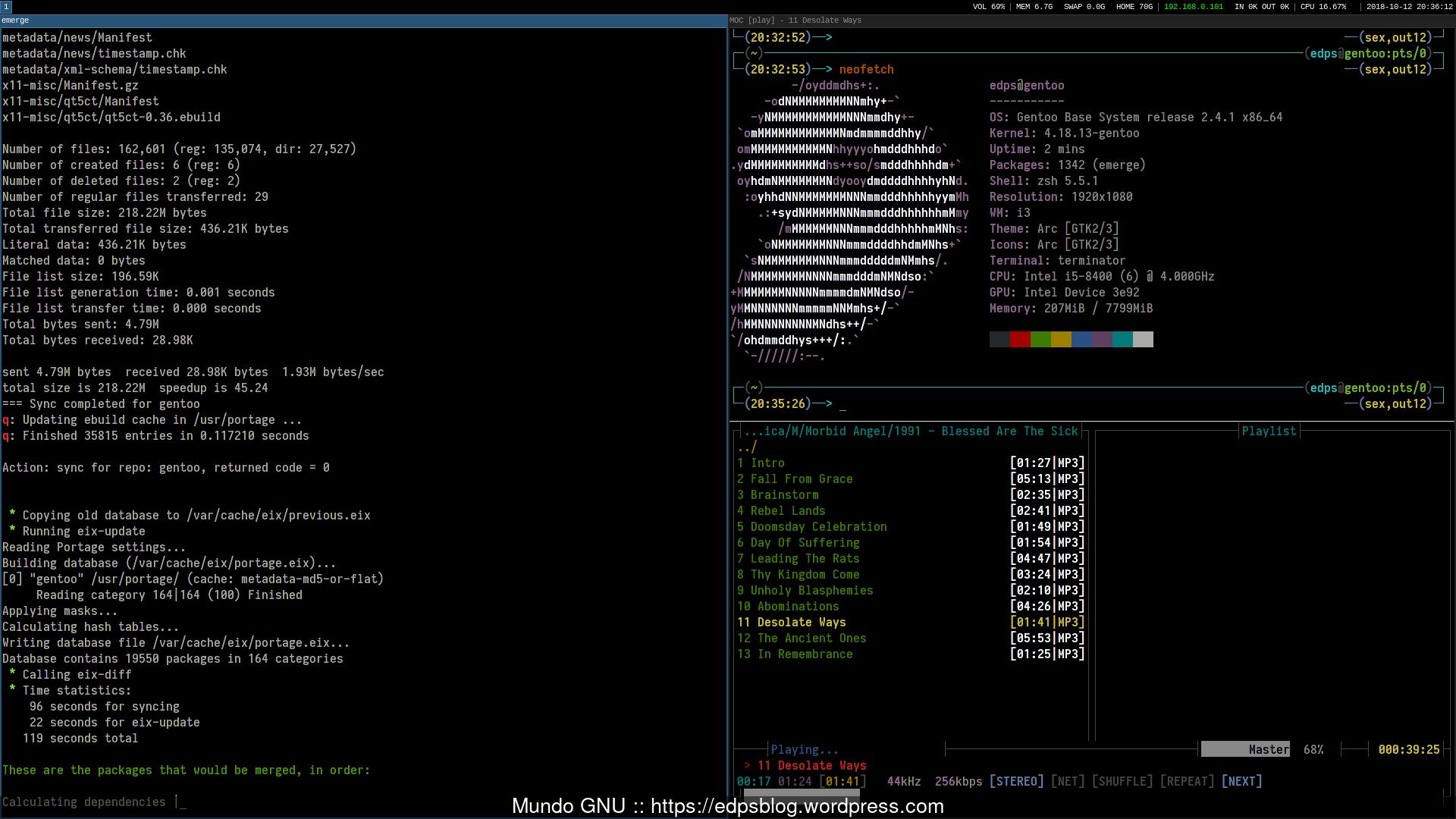 How-To :: Gentoo + i3 WM – Mundo GNU